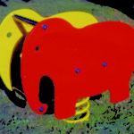 Gioco a molla bi-elefante 680-04